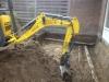 Uitgraven bouwput.