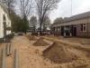 Begin aanleg nieuwe binnentuin.
